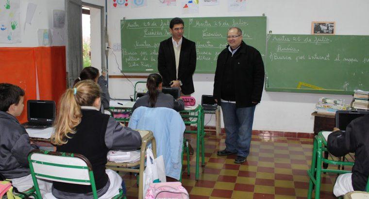 Escuelas Rurales de Paraná recibieron la visita de Panozzo