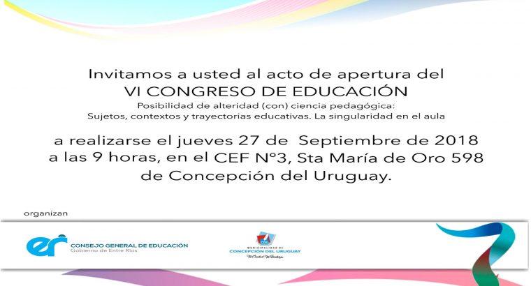 Más de 2700 docentes participarán del VI Congreso de Educación: Posibilidad de Alteridad