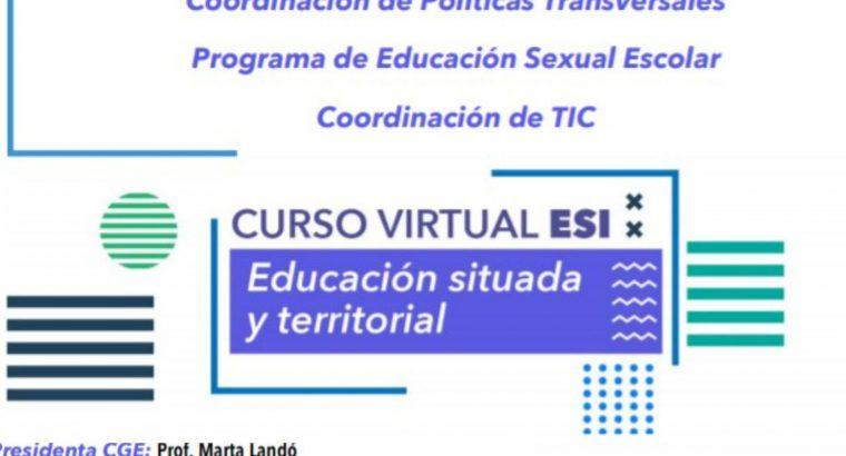 El CGE lanza un curso virtual de Educación Sexual Integral