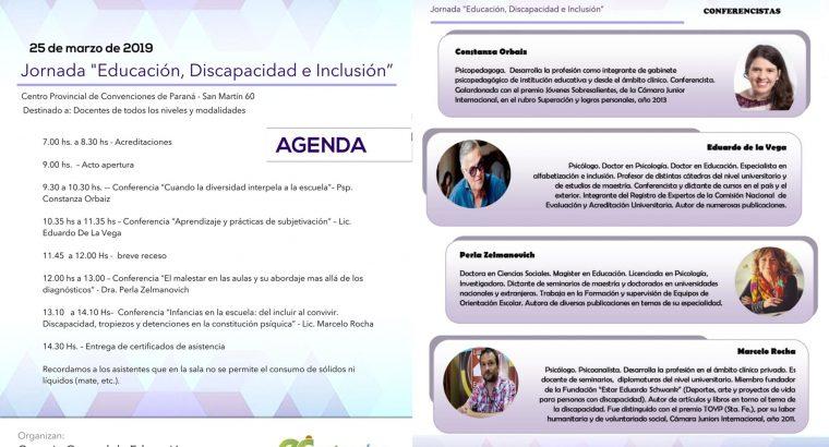 Se realizará la Jornada Educación, Discapacidad e Inclusión
