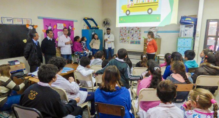 El Observatorio Vial provincial realizó una jornada de educación vial en la escuela Tabaré