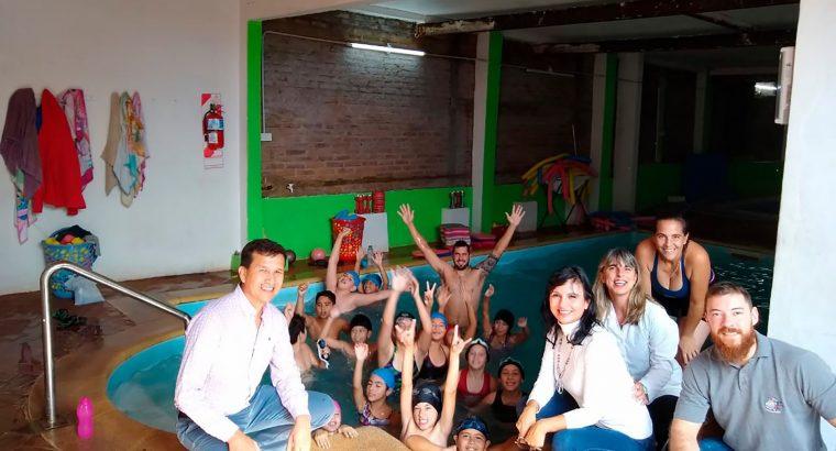 Comenzó el programa de natación escolar Marcelinos al Agua
