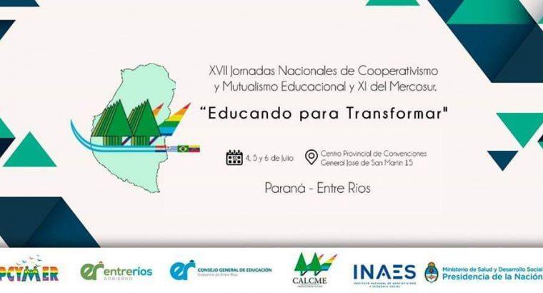 Lanzamiento de las XVII Jornadas Nacionales de Cooperativismo y Mutualismo Educacional y XI del Mercosur.