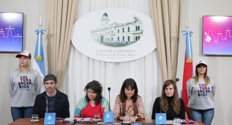 El programa Cultura Encendida se desarrollará en más de 50 localidades entrerrianas en vacaciones de invierno