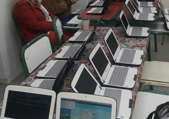 Facilitadores TIC recorren las escuelas del Departamento