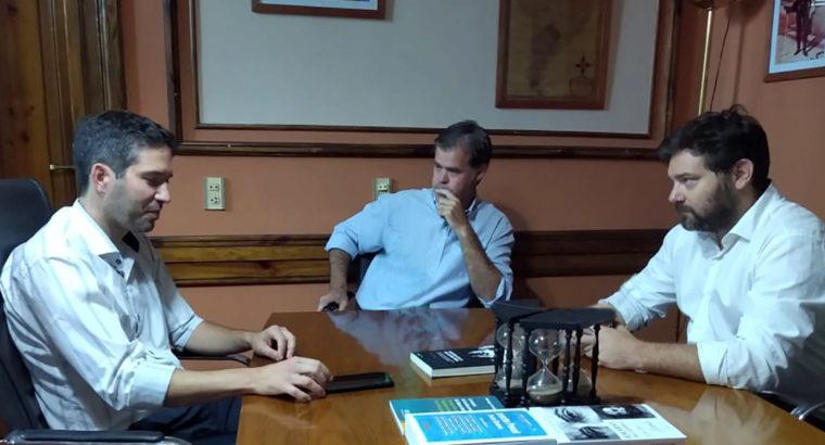 El presidente del CGE visitó Gualeguaychú para coordinar acciones conjuntas