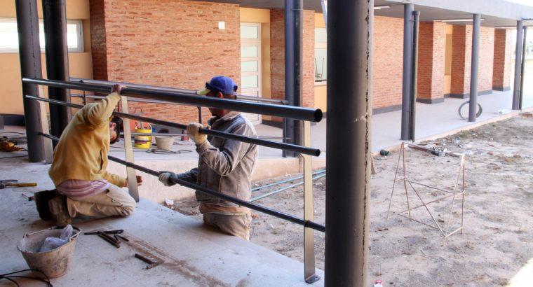 Obras de infraestructura escolar en el departamento Federación