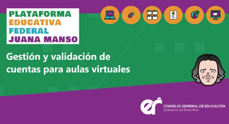 Juana Manso: procedimiento para escuelas de Entre Ríos
