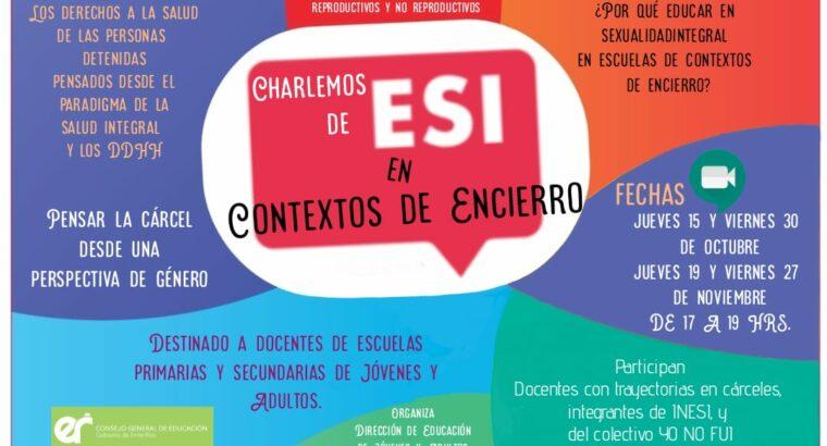 Jornadas de Charlas sobre ESI en Contextos de Encierro.