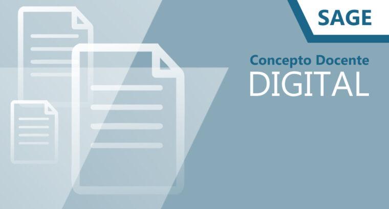 Concepto docente digital