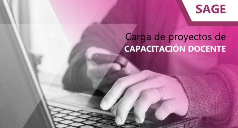 Presentación digital de proyectos de capacitación docente
