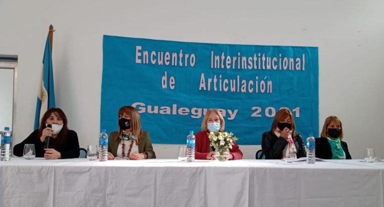 Encuentro interinstitucional de articulación en Gualeguay