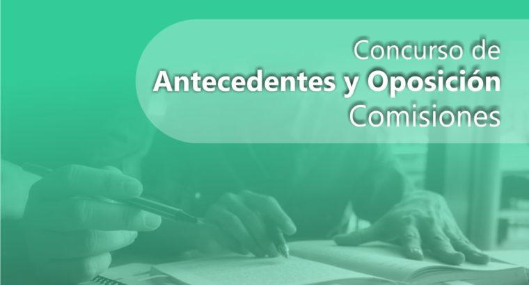 Comisiones para un nuevo concurso de Oposición